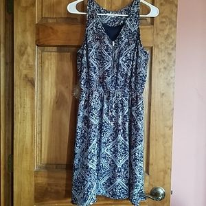 Maurices dress with zipper front, adjustable waist